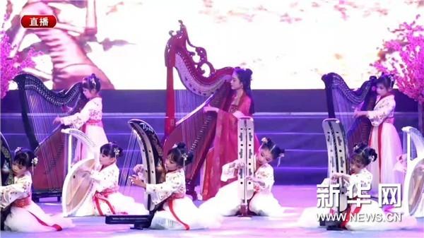 弘扬中华传统文化 箜篌娃娃们的风采