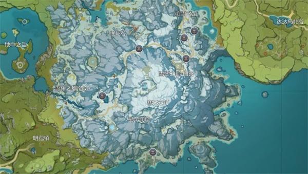 原神龙脊雪山锅分布位置一览