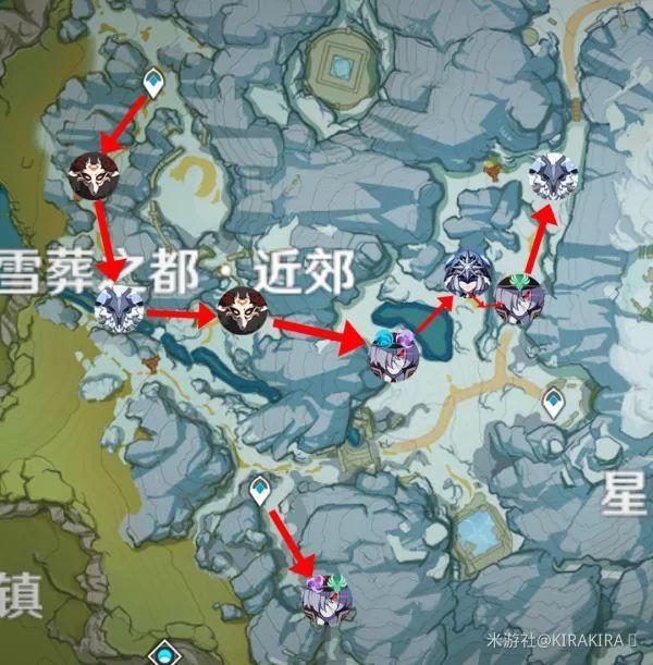 原神雪山地区精英怪清理路线分享