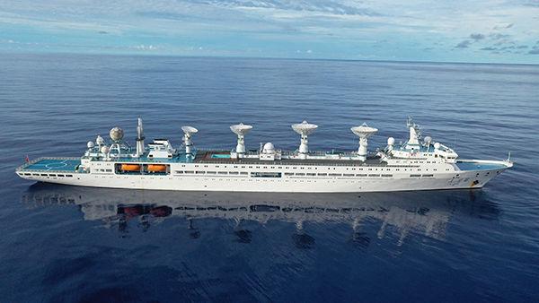远望6号船圆满完成海上测控任务