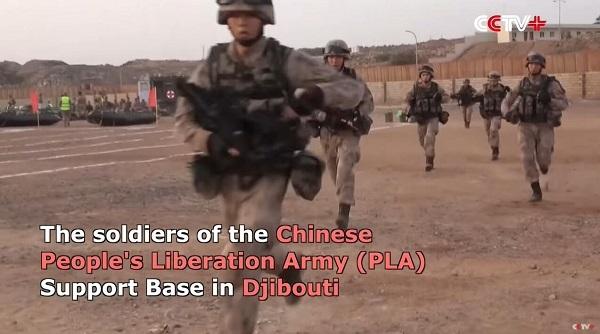 中国人民解放军在吉布提基地进行军事训练