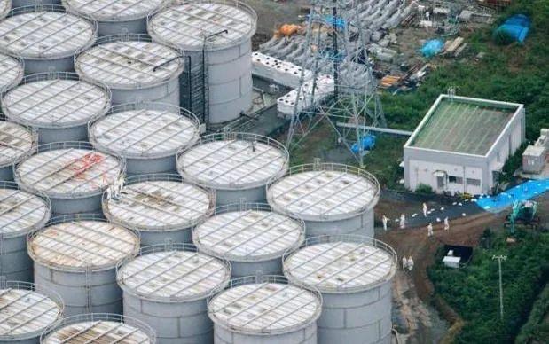 福岛第一核电站用于储存核废水的贮罐(图源:中新网)