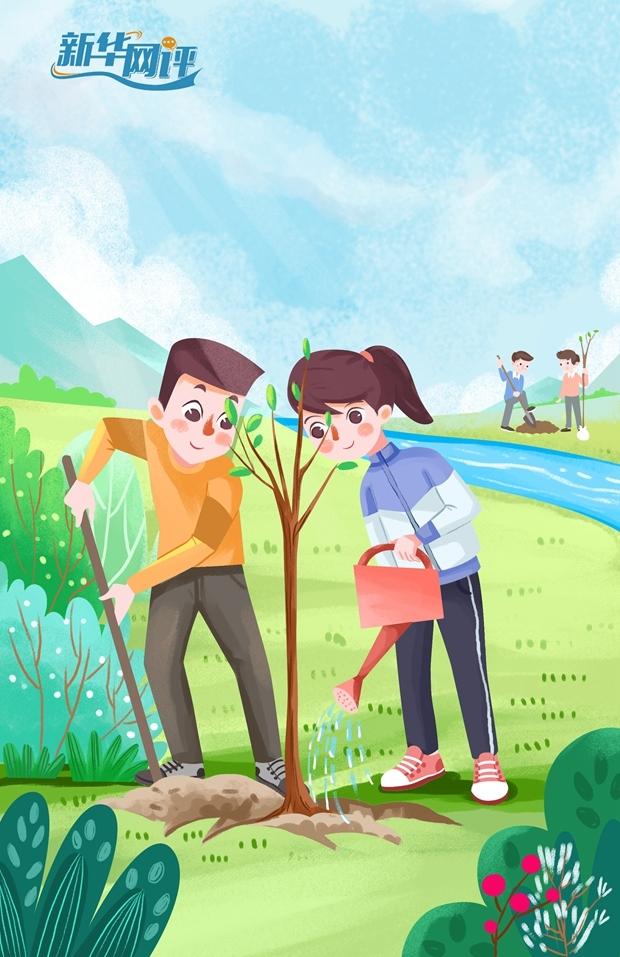 新华网评:这个春天,种下绿色希望