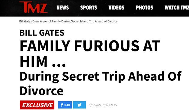 外媒曝光盖茨夫妇离婚细节:不是友好分手