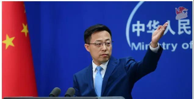 4月15日,中国外交部发言人赵立坚答记者问。图/外交部官网
