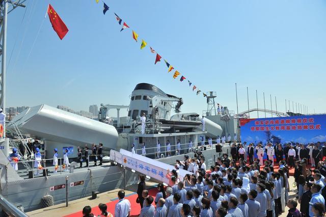 海军退役昭通号导弹护卫舰作为爱国主义教育基地在山东青岛亮相