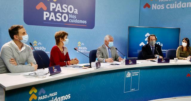 5月17日,智利圣地亚哥总统府 智利卫生部新闻发布会现场(图源:新闻发布会)