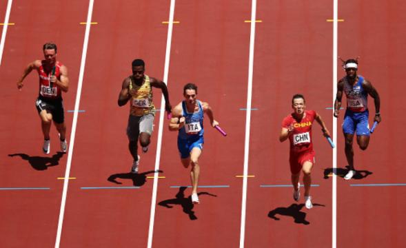 中国队晋级男子4x100米接力决赛