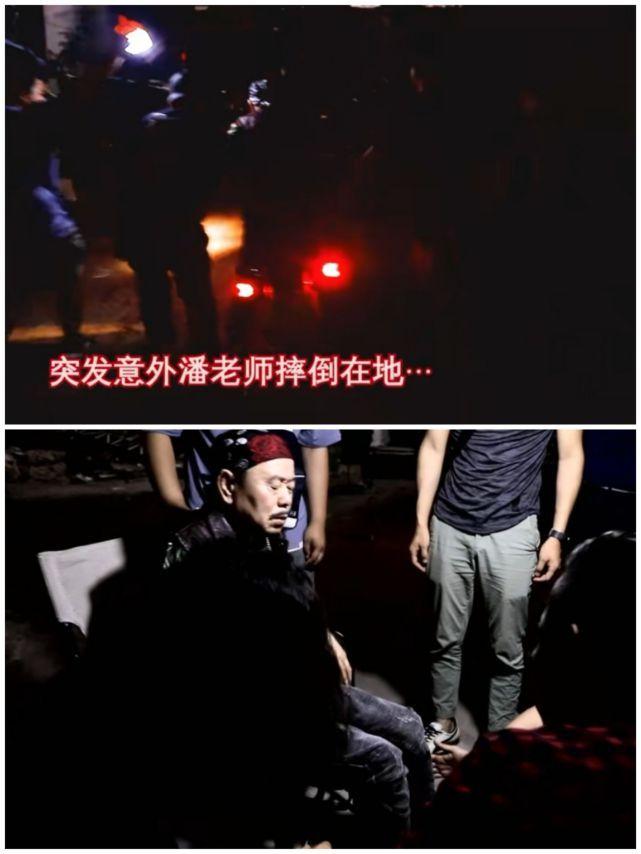 63岁潘长江拍戏被800斤摩托砸伤 坐轮椅坚持拍完