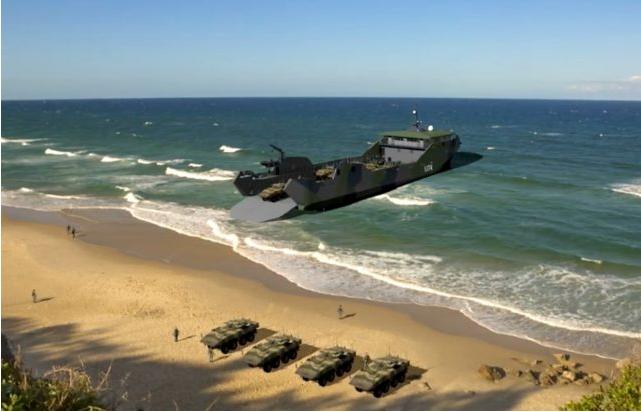 """美国海军未来""""轻型两栖战舰""""设计概念效果图"""
