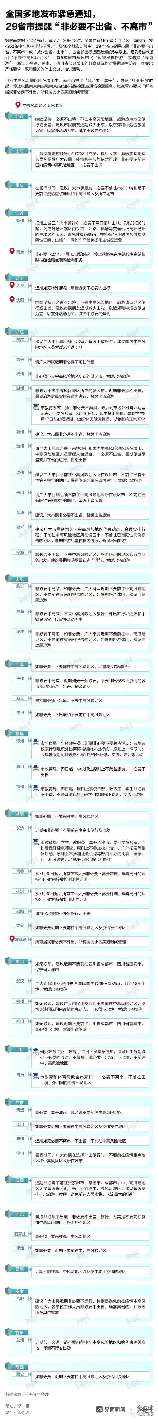 南京疫情传播链再延长,多地发紧急通知、景区关闭
