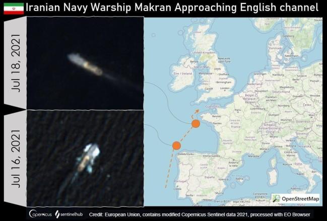 """伊朗""""莫克兰""""号海上基地舰"""