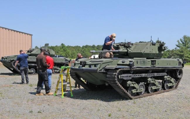 """美开始测试""""无人坦克"""",混动发动机能静音行驶"""