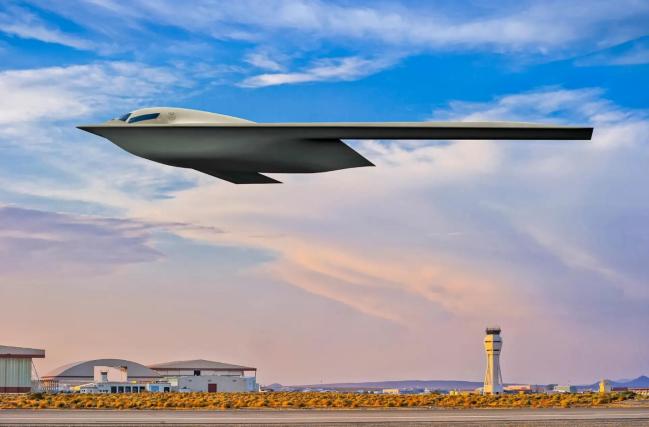 美国空军公布的B-21轰炸机效果图