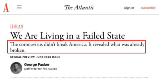 """环球深观察丨美国""""基础病"""":疫情催化下的动荡与撕裂"""
