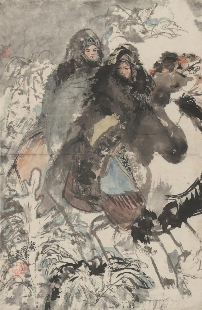程十发,《初雪》,1979年