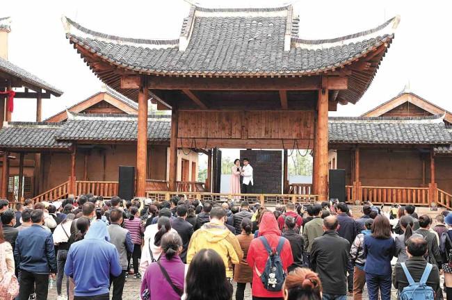 长沙县果园镇《田汉与国歌》演出现场  长沙县果园镇供图