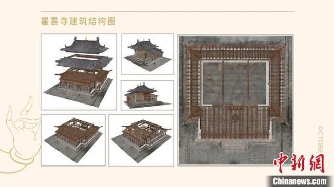 瞿昙寺建筑结构图 故宫博物院供图