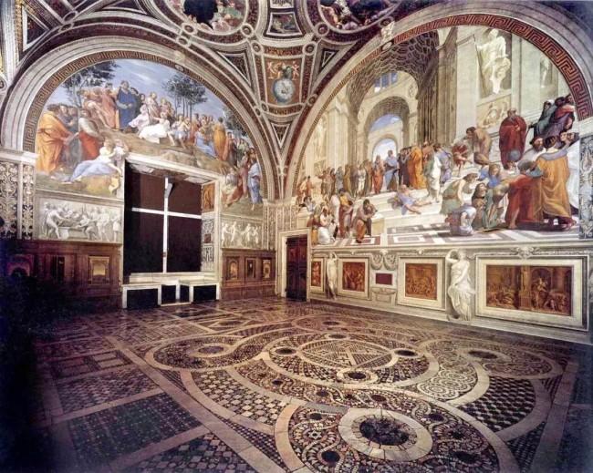《雅典学院》在 梵蒂冈博物馆