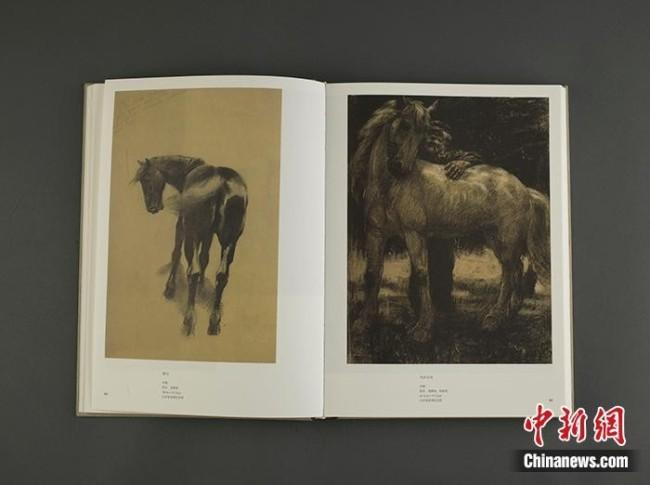 《徐悲鸿全集》素描卷内文。出版方供图