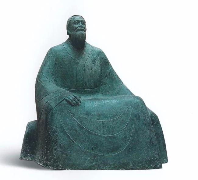 钱绍武《孔子像》 铸铜 高250cm 1999年