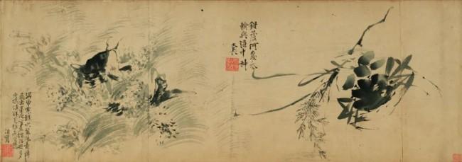 (明)徐渭 鱼蟹图 天津博物馆藏