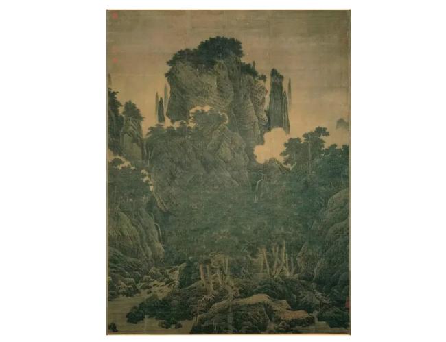 宋代李唐(1066-1150),《万壑松风图》。