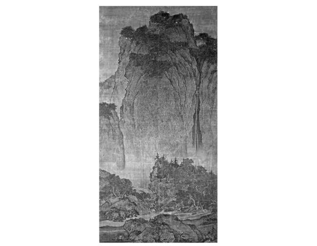 宋代范宽(约960-1030),《溪山行旅图》。
