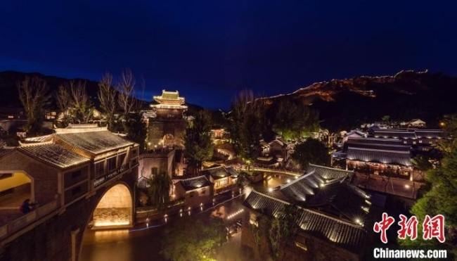 北京古北水镇夜景。 北京市文旅局供图