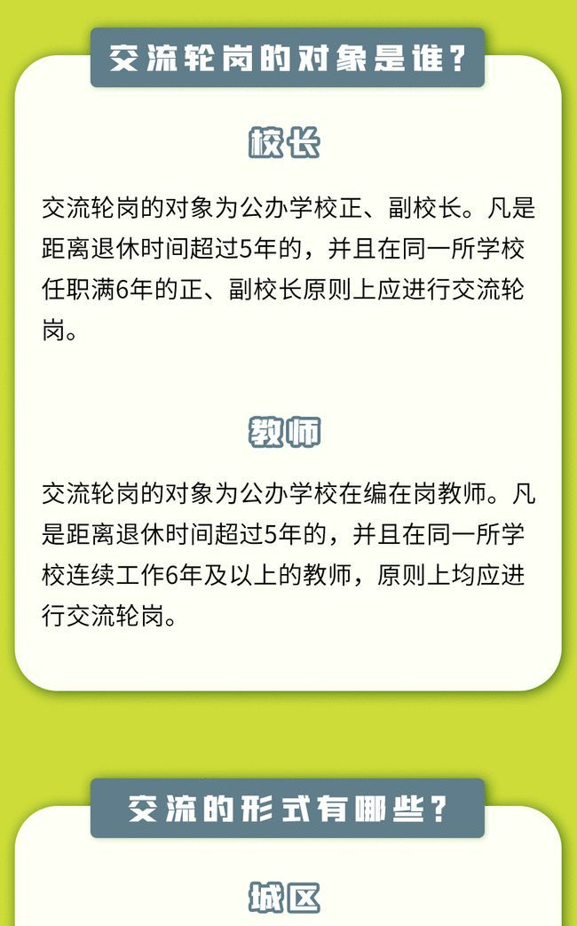 """一图看懂北京校长老师交流轮岗""""规则"""""""