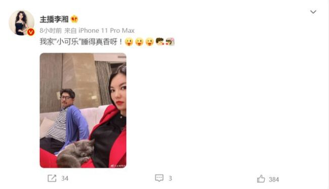 李湘懒理退租风波 抱爱猫与老公王岳伦合照秀恩爱