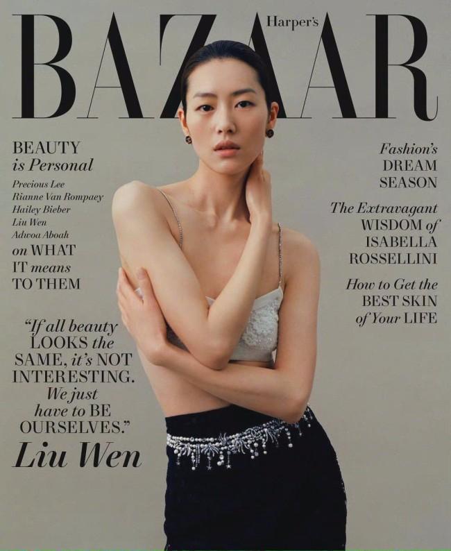刘雯美版杂志写真曝光 尽显别具风韵的东方魅力