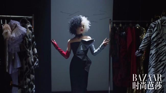 宋茜破格变身黑白魔女 挑战电影经典反派造型
