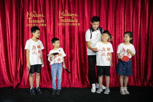 张继科入驻北京杜莎夫人蜡像馆 传承体育精神燃动奥运魂
