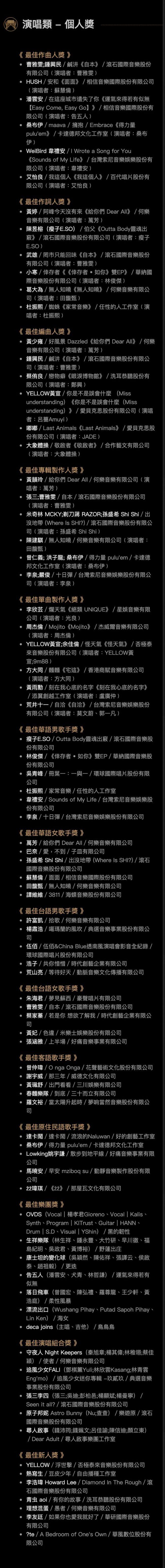 第32届金曲奖本周六如期举行 吴青峰林俊杰争歌王