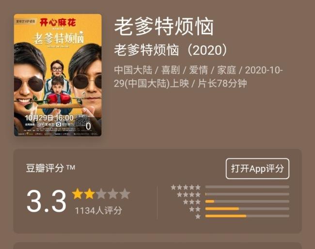 《老爹特烦恼》豆瓣3.3评分 开心麻花开心不起来了?