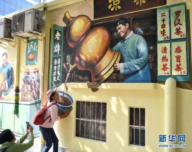 广州:充满广府风情老街变身网红打卡地