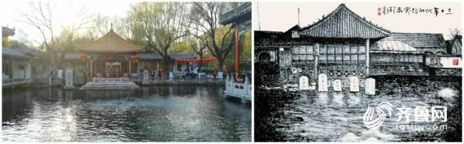 """最传统、最朴素、最接""""地气"""" 书画艺术家用100幅焦墨画展现近百年前的老济南"""