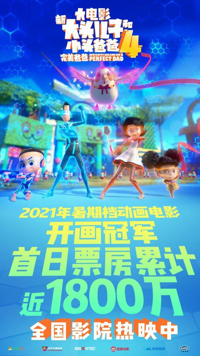 """""""新大头儿子""""4首日票房喜人 2021暑期档动画电影开画冠军"""