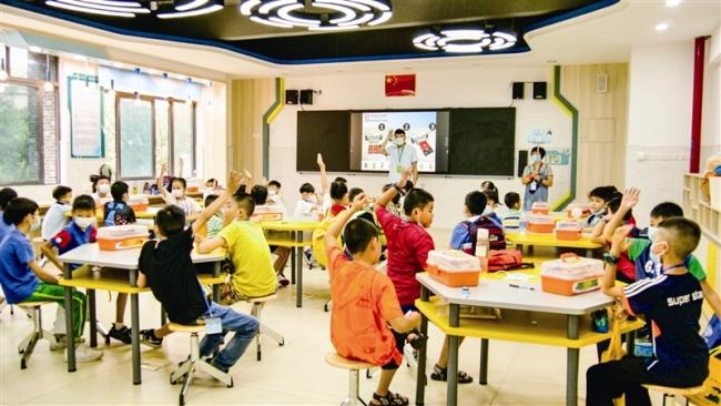 番禺区正式迎来小学生首期暑期托管服务 跨校参与学生734名