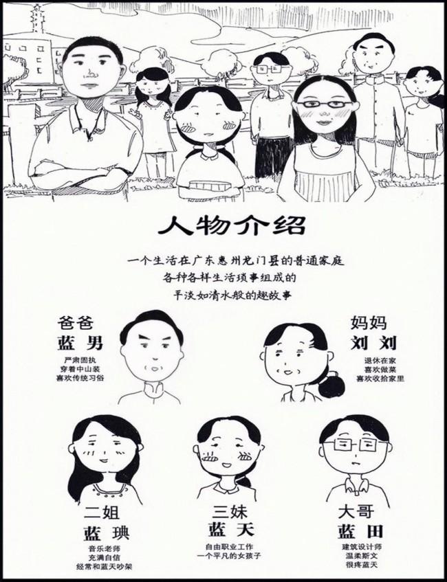 广东惠州邹奋出新作 《蓝天一家人》温暖描绘生活