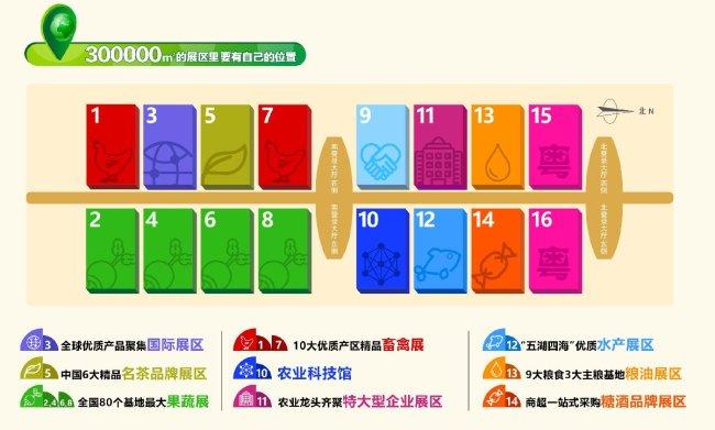 深圳第十九届中国国际农产品交易会展馆具体是怎么分布的