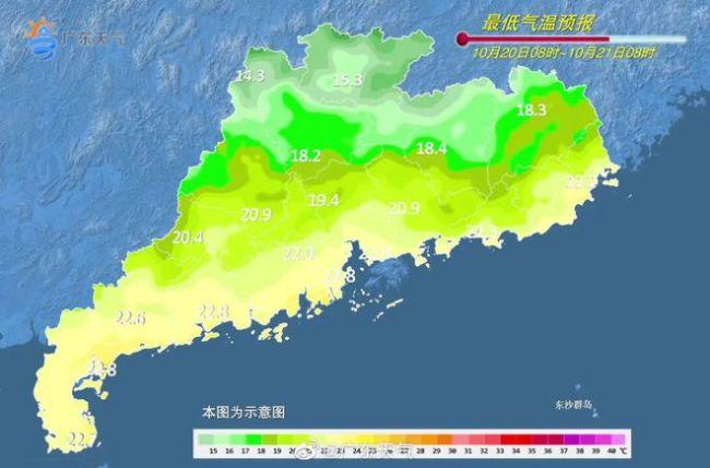 顺德受副热带高压影响昼夜温差大 阴冷模式将开启秋装要穿起