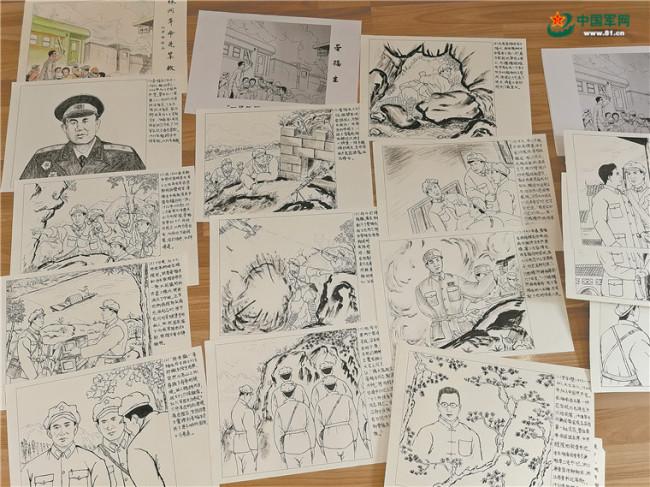画笔描摹英雄 这位退伍军人坚持10年创作近两千幅手绘