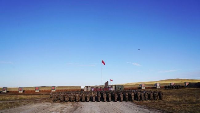 """""""和平使命-2021""""上合组织联合军演""""中国营""""举行开营仪式"""