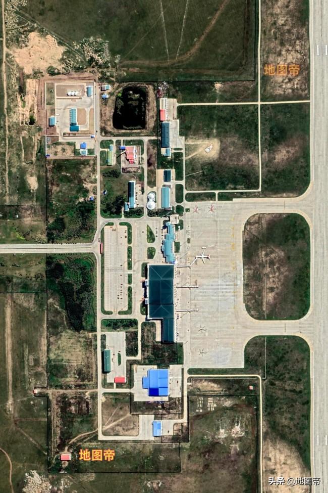 航拍满洲里西郊国际机场,全球首个旅客吞吐量百万以下四星级机场