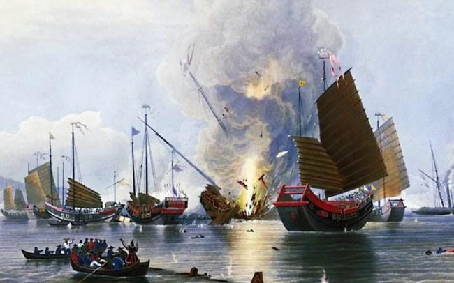 鸦片战争中,清军不带粮草作战,遭到当地民众坚壁清野