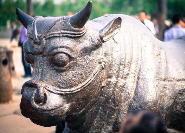 1200年前的黄河铁牛捞出后,为何露天摆放?