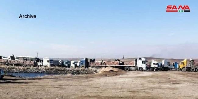 偷粮食?叙媒:驻叙利亚美军动用20辆卡车偷运小麦