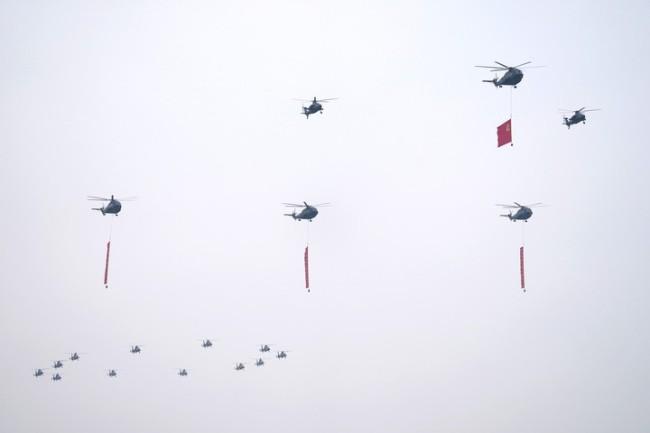 庆祝共产党成立100周年,空中梯队庆祝表演速写